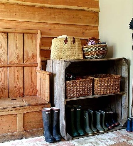 Love this idea for entryway or utility/mud room entrance! Great idea!