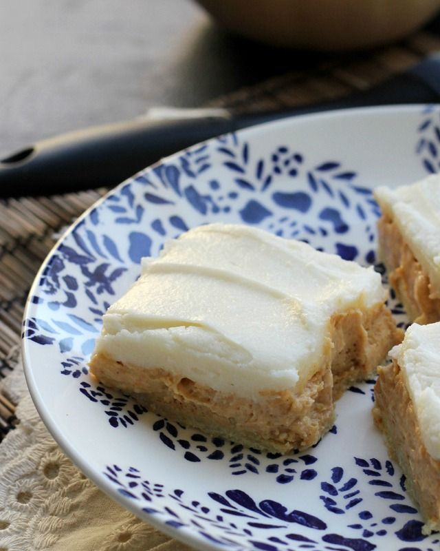 Pumpkin spice cheesecake bars filled with the flavors and spices of fall…you won't be able to have just one!