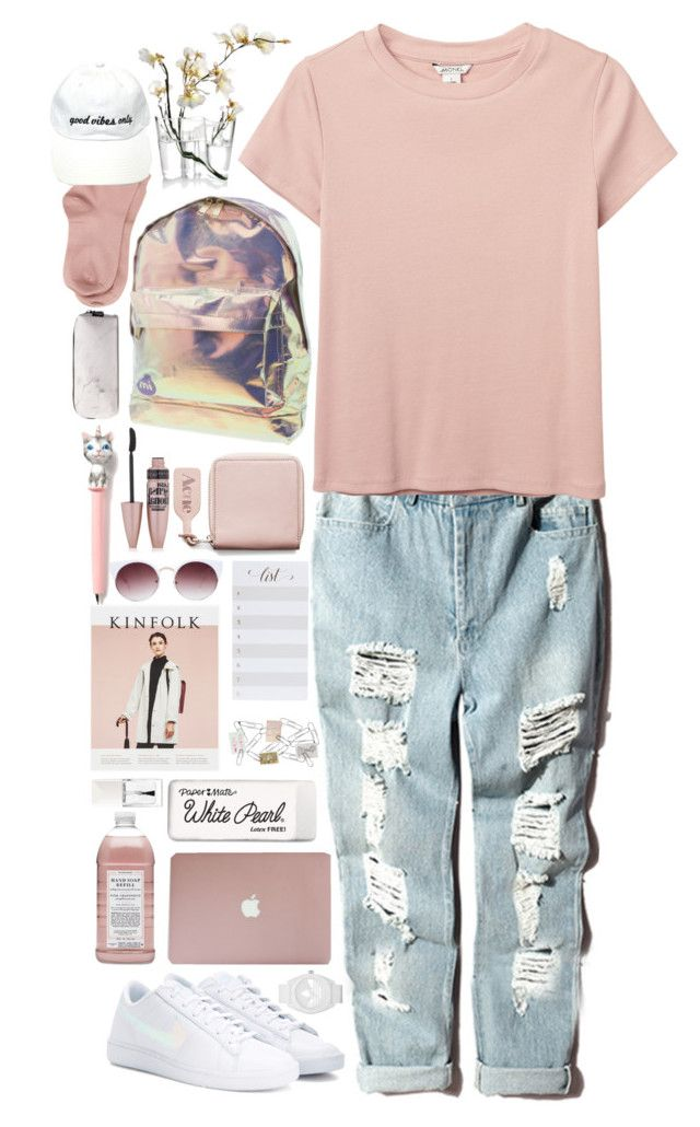 """""""Back to school"""" by timeless0trends ❤ liked on Polyvore featuring Mi-Pac, NIKE, Eloquii, Monki, Acne Studios, Maria La Rosa, Maybelline, Christian Dior, adidas and Williams-Sonoma"""