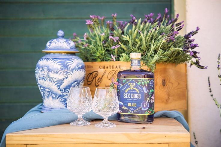 Lavender Fields Wedding Inspiration -Love this bar cart with Six Dogs Gin
