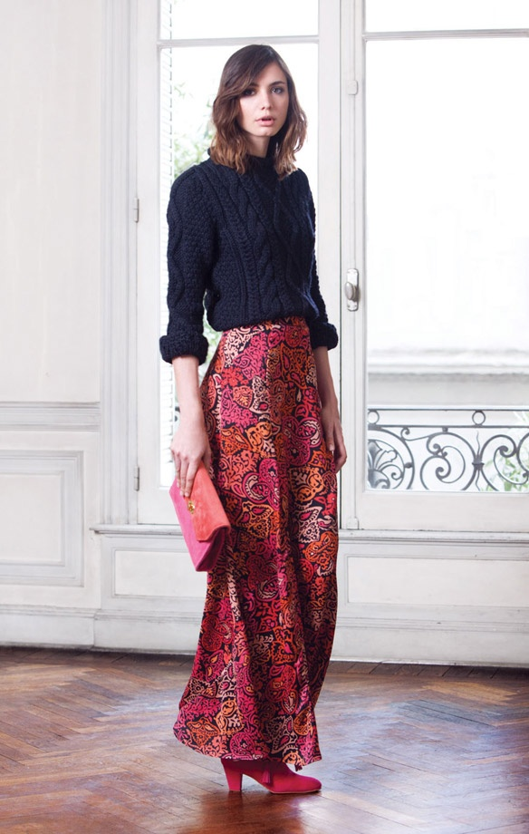 Modest Maxi Skirt and Sweater