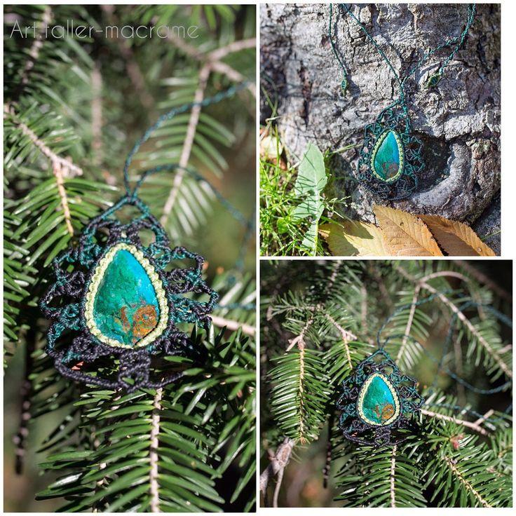 Quiero compartir lo último que he añadido a mi tienda de #etsy: Collar macramé, hecho a mano, piedra crisocola, étnico, natural, sencillo, hipiie chic http://etsy.me/2AnFnYY #joyeria #collar #si #macrame #etnico #sencillo #hippie #chic #boho