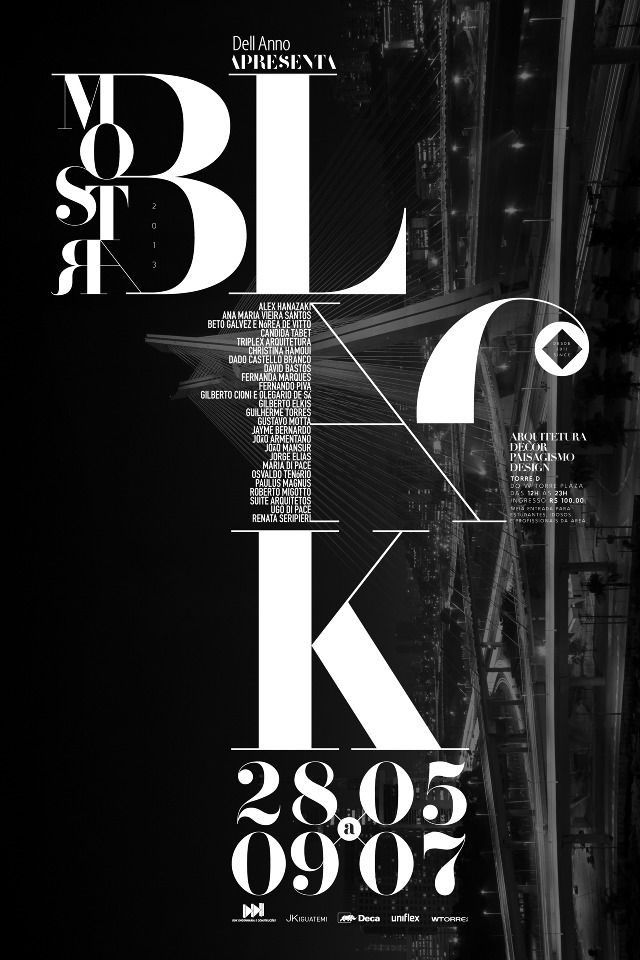 Mostra Black – poster design and typography for concert | typography / graphic design: Pedro Paulino @ grid graphic |