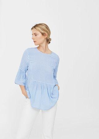 Flowy printed blouse -  Women | MANGO USA