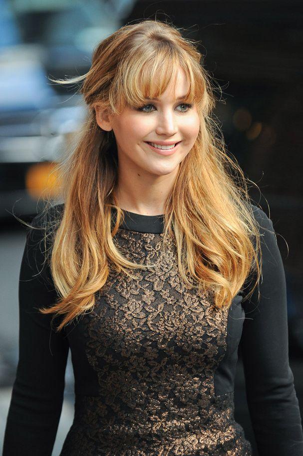 Jennifer Lawrence La frange en ras de cil