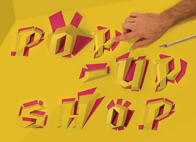 Precise Pop-Up Shop! #typography