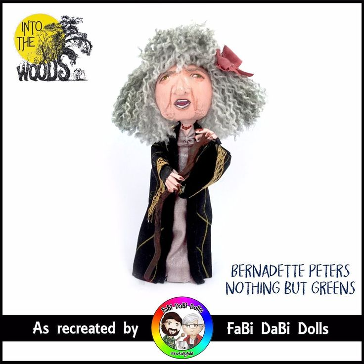 bernadette peters witch - into the woods sondheim peg doll by fabi dabi dolls available now on our ebay store