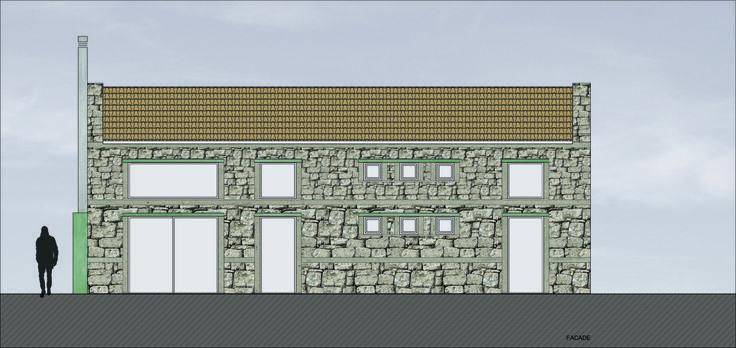 project_Small mountain house in Messinia | phase_Proposal | title_Facade | pin architecture_Petroula Sepeta◦Ioanna Chamilou◦Natasa Markopoulou | year_2008