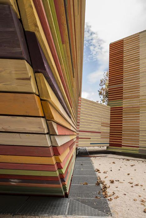 beautiful wood detailing - Auditorium Aquila by Renzo Piano Building Workshop