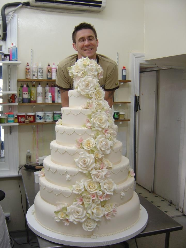Wedding cake of Lleyton Hewitt and Bec Cartwright in the early days of Planet Cake