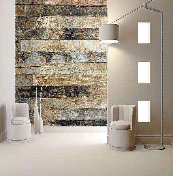 Un original mural de lamas de madera - Villalba Interiorismo