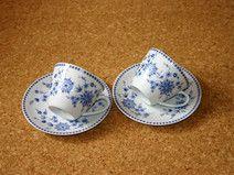 2 Kaffetassen  Seltmann Weiden Bayrisch blau Doris