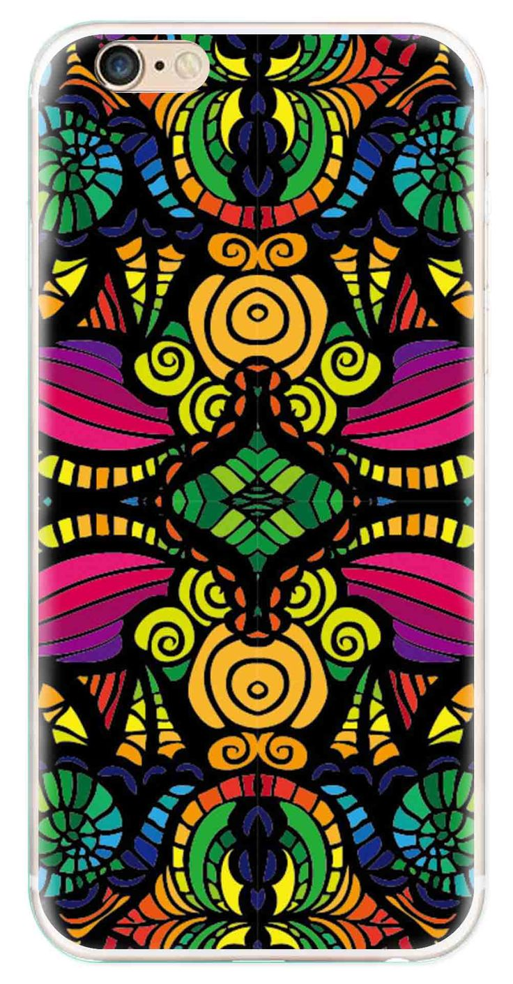Whatskin DIY Style Colored Painting Series 08 Clear Back Cover for iphone 6