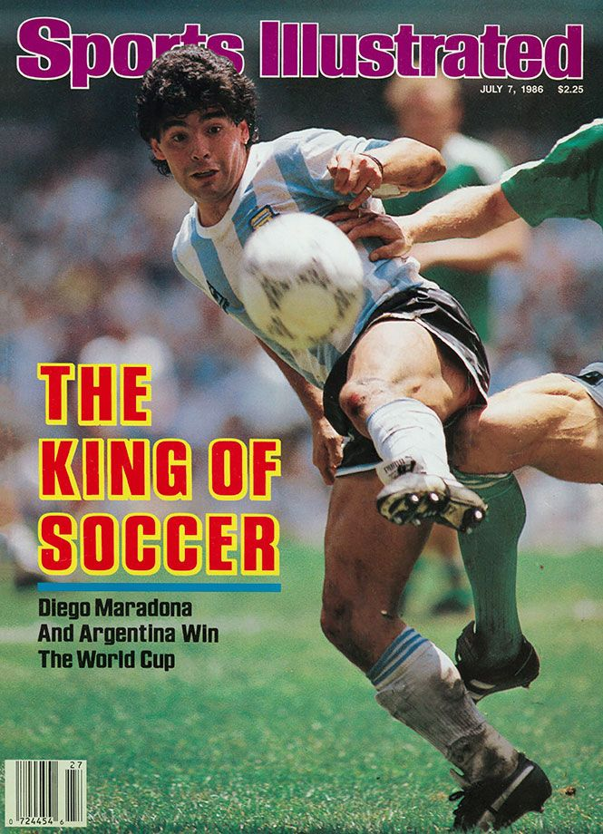 Diego Maradona appears on the July 7, 1986 cover of Sports Illustrated. Joint FIFA Player of the 20th Century with Pelé, Maradona played for the Argentine national team for nearly two decades and...