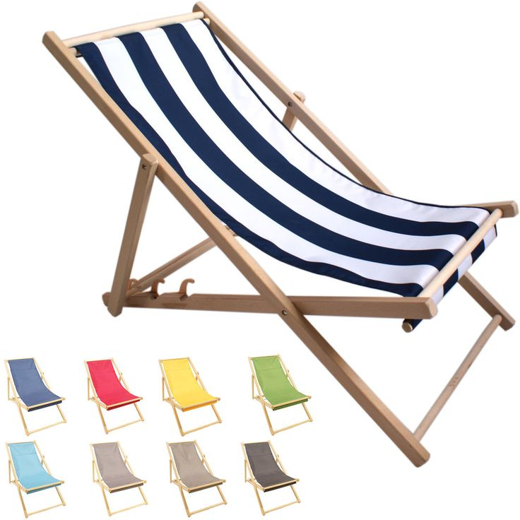 Details Zu Liegestuhl Gartenmöbel Aus Holz Strandliege Sonnenliege  Campingliege Relaxliege