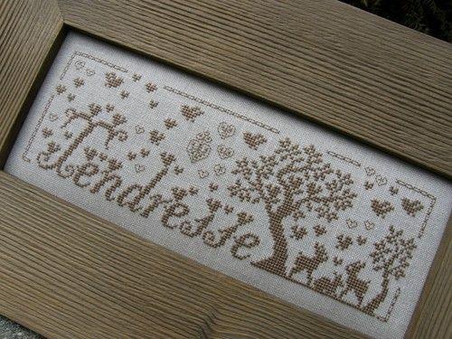 Tendresse (Tenderness), designed by Renato Parolin, stitched by Les tites croix de Celine blogger, Celine.
