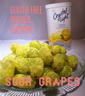 A healthier gluten-free and kosher recipe that imitates sour patch candies. Sour Grapes - 4 Hats and Frugal