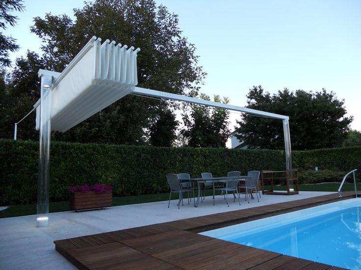 Ombrellone per piscina in alluminio
