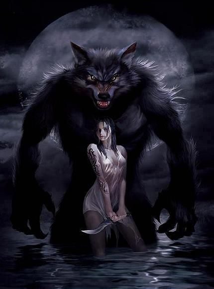 a girl and her wolf the wolf shall always protect his little girly. So be aware!!!