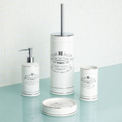 Debenhams White Paris Bathroom Accessories At Home Pinterest Paris Bathroom