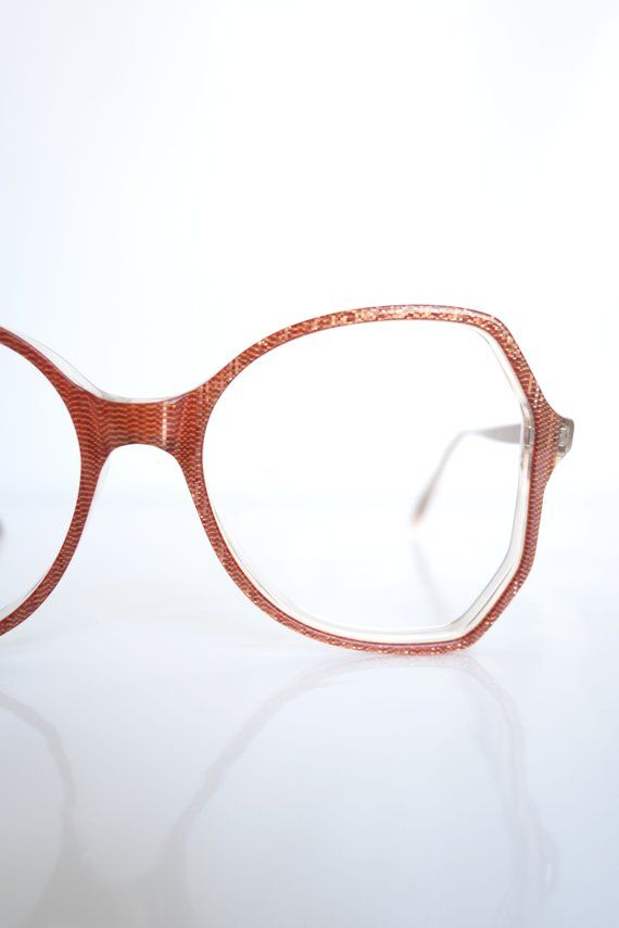e3f762fc6d Oxblood Red Optical Frames 1980s Oversized Red Glasses