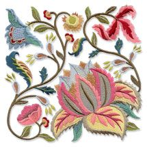 New Jacobean Summer designs for machine embroidery!