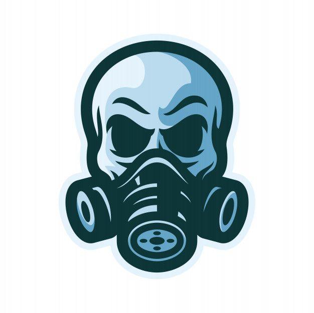 Skull With Gas Mask Mascot Logo Vector Illustration In 2020 Watercolor Logo Design Vector Logo Mascot