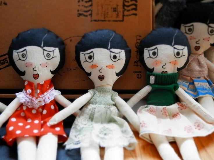 Risultati immagini per bambole di pezza fatte a mano