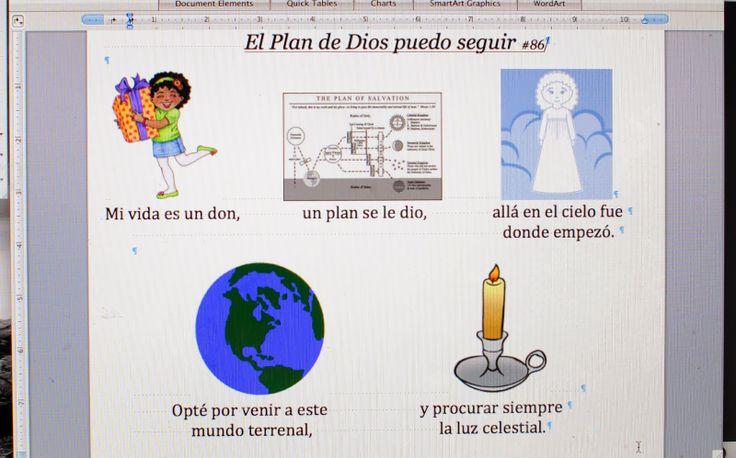 """Ideas for the Song """"I Will Follow God's Plan"""" #LDS Primary #LDS songs #LDS #God's plan  Ideas para la canción """"El plan de Dios puedo seguir"""" #Plan de Dios #Canciones SUD #Primaria #primariaSUD"""