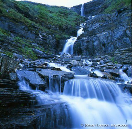 Waterfall in Njulla Abisko nationalpark, Sweden