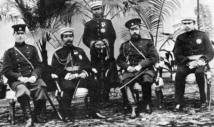 KING CHULALONGKORN OF SIAM AND EMPEROR NICHOLAS II OF THE RUSSIA  КОРОЛЬ СИАМА ЧУЛАЛОНГКОРН И ИМПЕРАТОР РОССИЙСКОЙ ИМПЕРИИ НИКОЛАЙ II