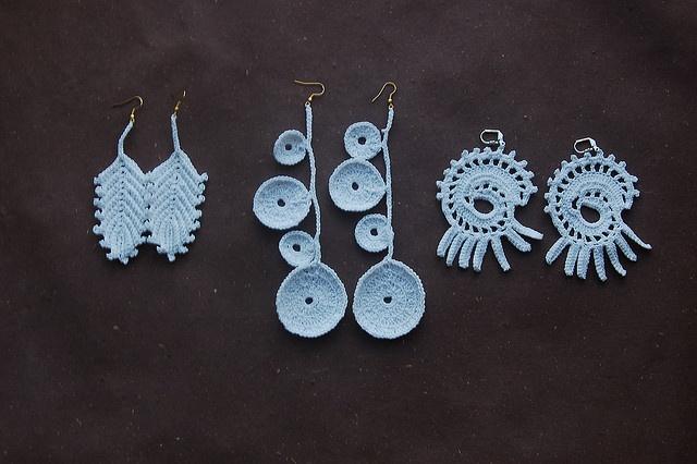 crocheted earrings by Nadya Petrova