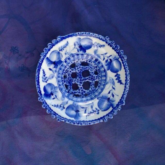 Декоративная #тарелочка  #художник Вера Седачёва  #ARTKOZYR  #фарфор #роспись кобальтом