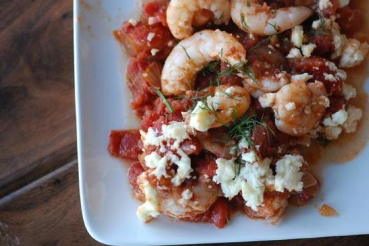 Greek-Spiced Baked Shrimp | Seafood | Pinterest | Baked shrimp, Shrimp ...
