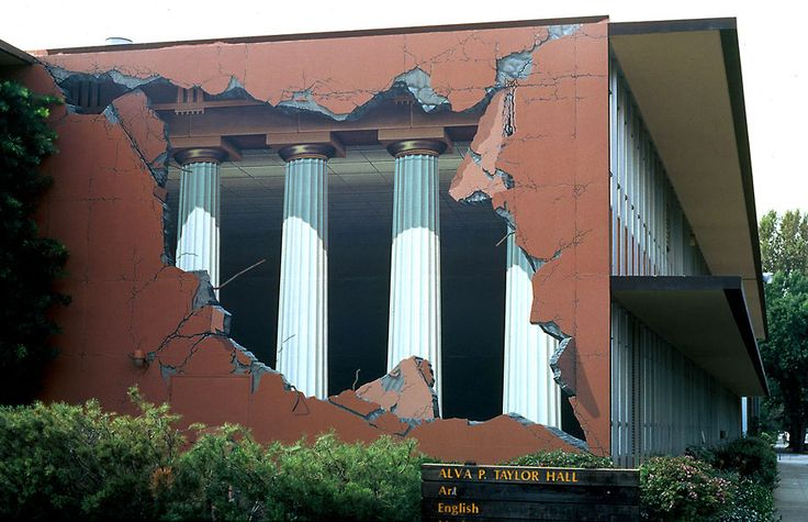 this building is not actually damaged, its just  painted!!