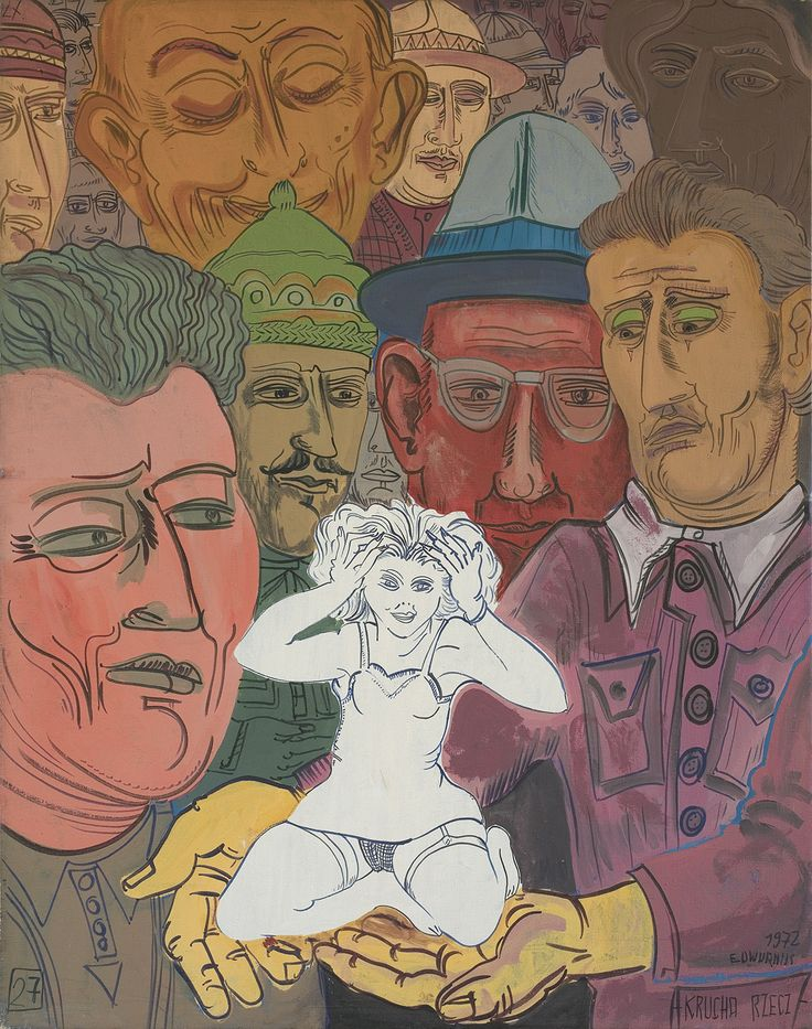 Edward Dwurnik | <i>KRUCHA RZECZ, 1972</i> | akryl, olej, płótno | 146 x 114 cm