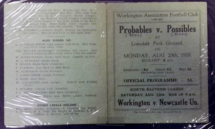 Workington AFC Probables vs Possibles 1928