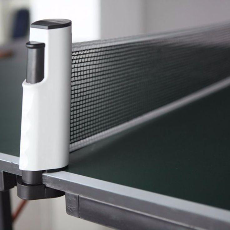 Portátil telescópica retrátil mesa de tênis net rack de reposição ping pong rede
