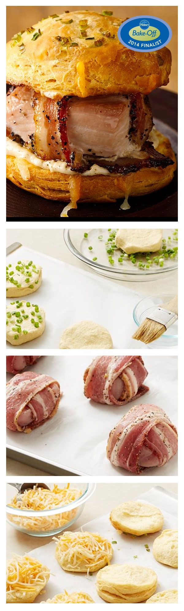 47th Bake-Off Contest Finalist: Peppered Bacon-Wrapped Turkey Pub Sandwiches by Betty Staufenbiel from St Louis, MO