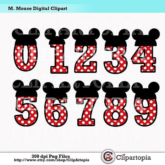 M. Mouse Digital Clipart / Mickey Cumpleaños por ClipArtopia