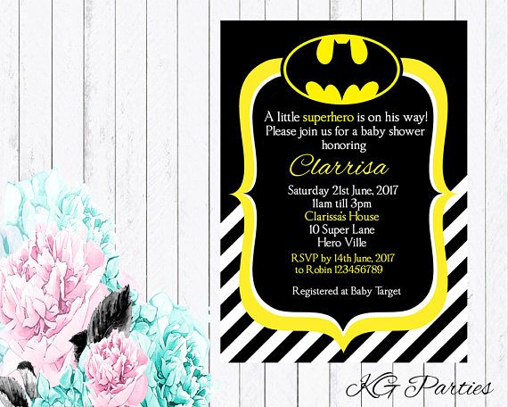 batman invitations baby shower invitations batman baby showers forward
