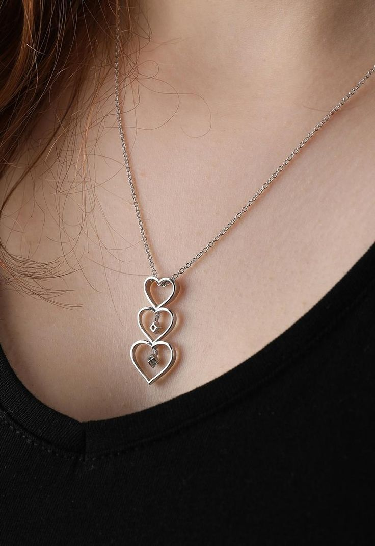 Diamond Choker With Aquamarine, Birthday Gift Necklace, Diamond Heart Necklace, Dainty Necklace, Silver Diamond Necklace With Aquamarine