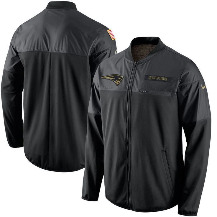 New England Patriots Nike Salute to Service Hybrid Performance Jacket - Black