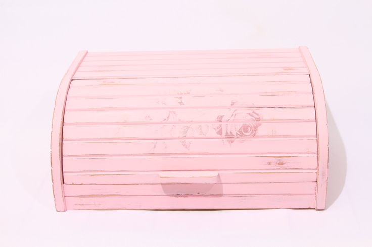 bread box, wood bread box, bread storage, pink bread box, vintage bread box by CestChicDesigns on Etsy