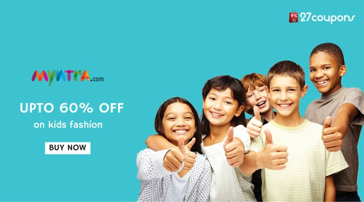 #Shop more for kids with this huge discount #offer !!! http://27c.in/XppcX @Myntra #kidsfashion For more #offers #coupons #discountcoupons #discountoffers #discountcodes visit 27coupons.com