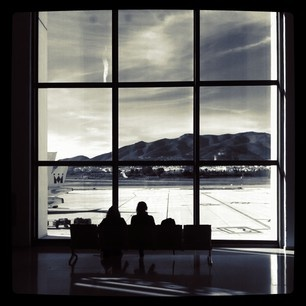 Waiting For The Plane at Malaga by Mark Beltran