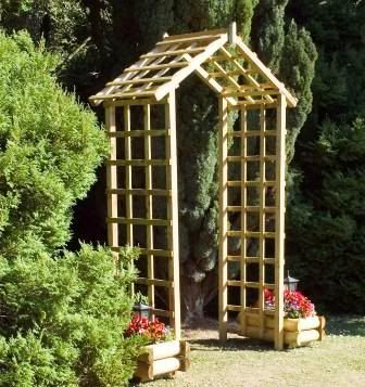 Garden Ideas With Wood build tiered beds from wooden pallets 20 truly cool diy garden bed New Timber Wooden Trellis Garden Arch Archway