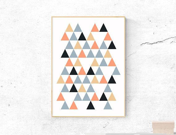 Abstract Triangles Print. Available as a printable or custom sized physical print! etsy.com/shop/digitalkekeart
