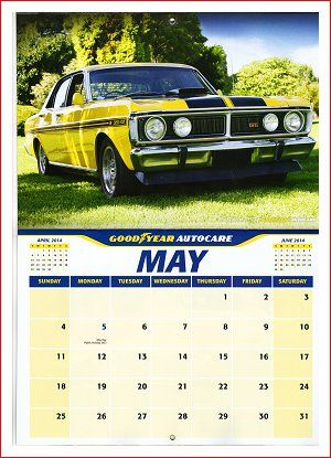 Goodyear Autocare Calendar - May 2014 - Falcon XY GT