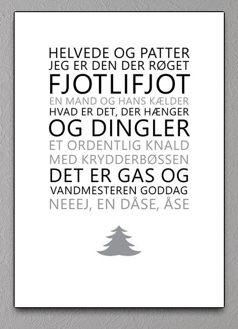 jul juleplakat plakat grafisk familien andersens julehemmelighed